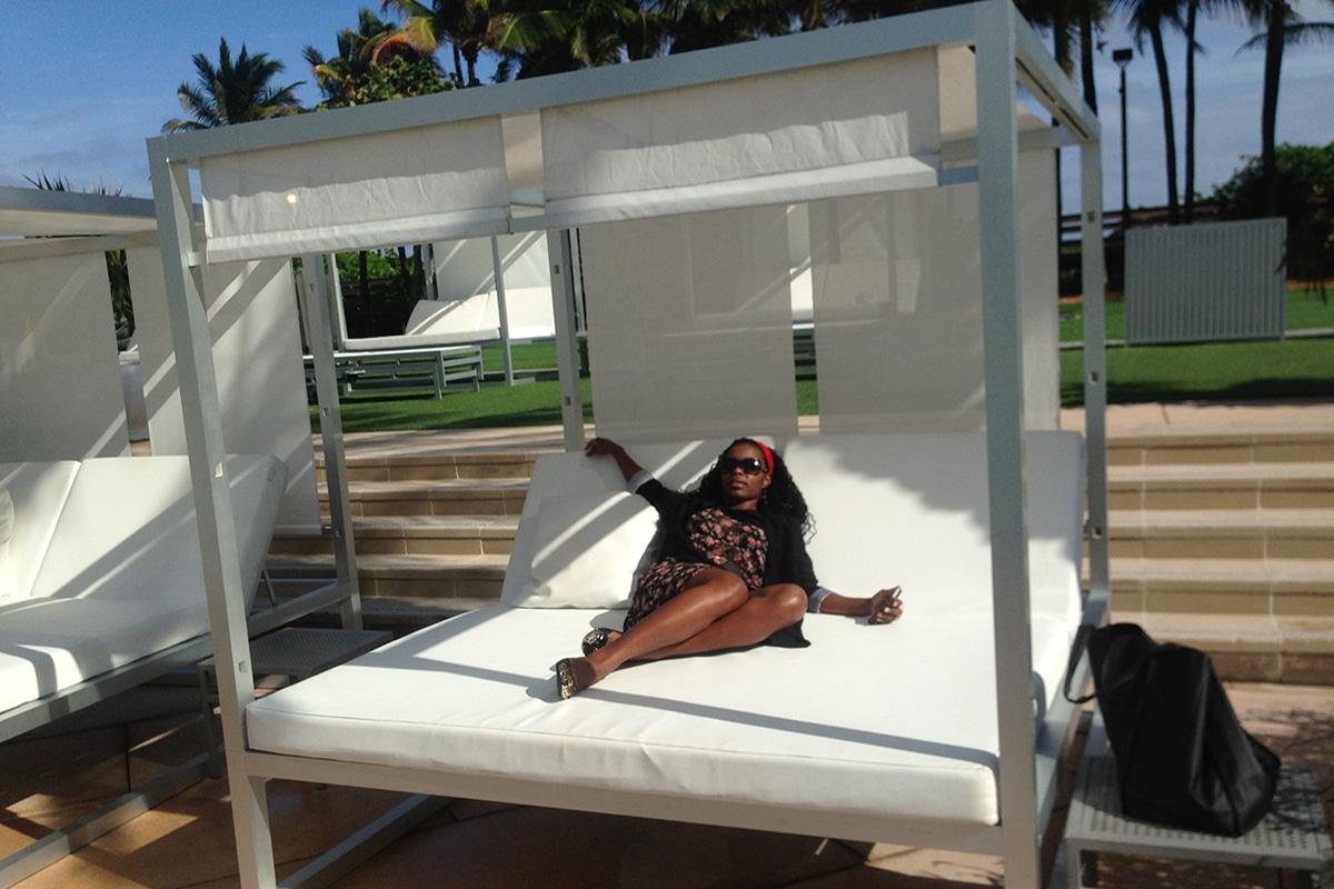 Venessa Crandell Cabana Relaxing