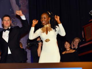 Ty and Venessa Crandell Celebrating